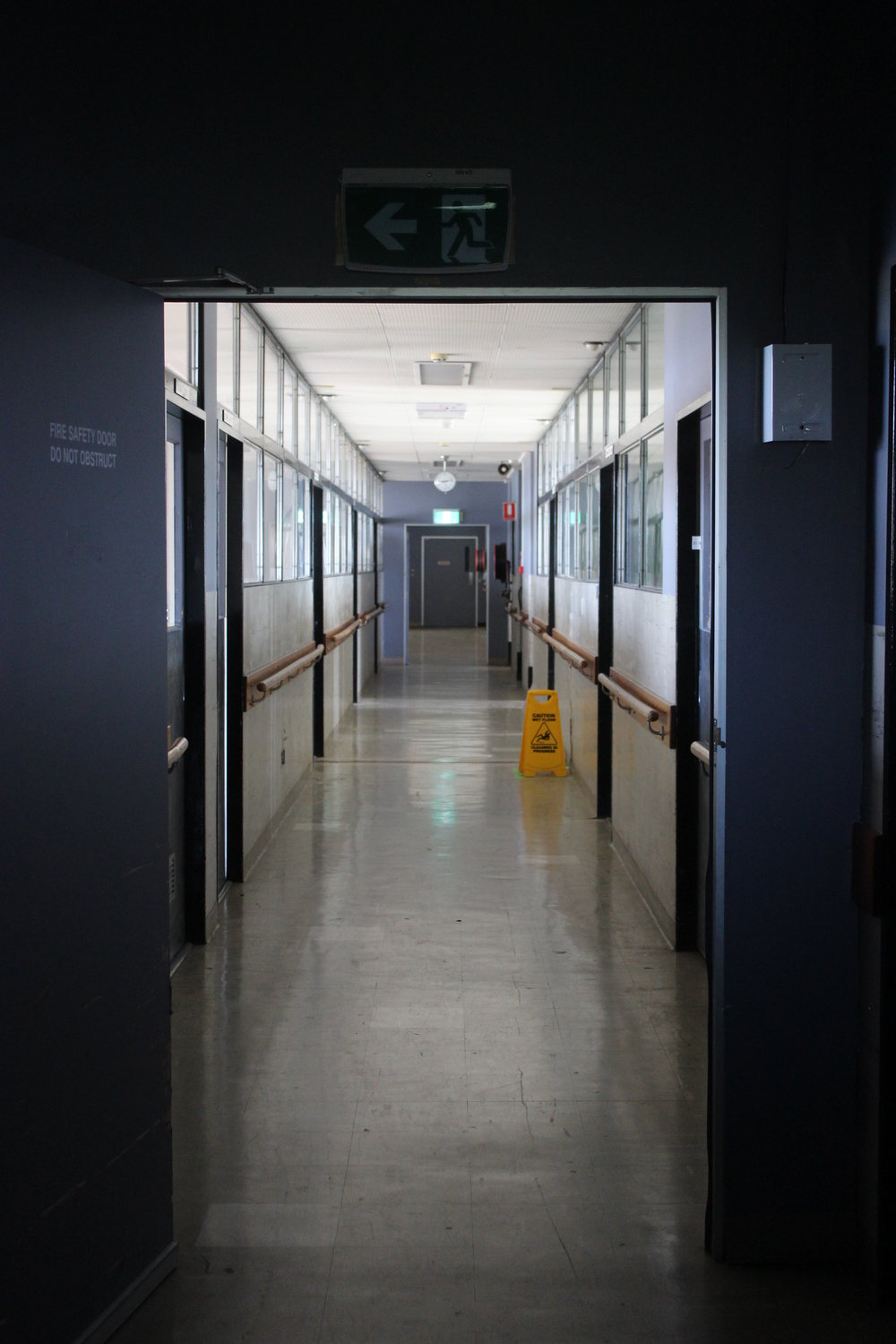 Corridor at Royal Melbourne Hospital, Parkville   Photo Credit Lucinda Bruce