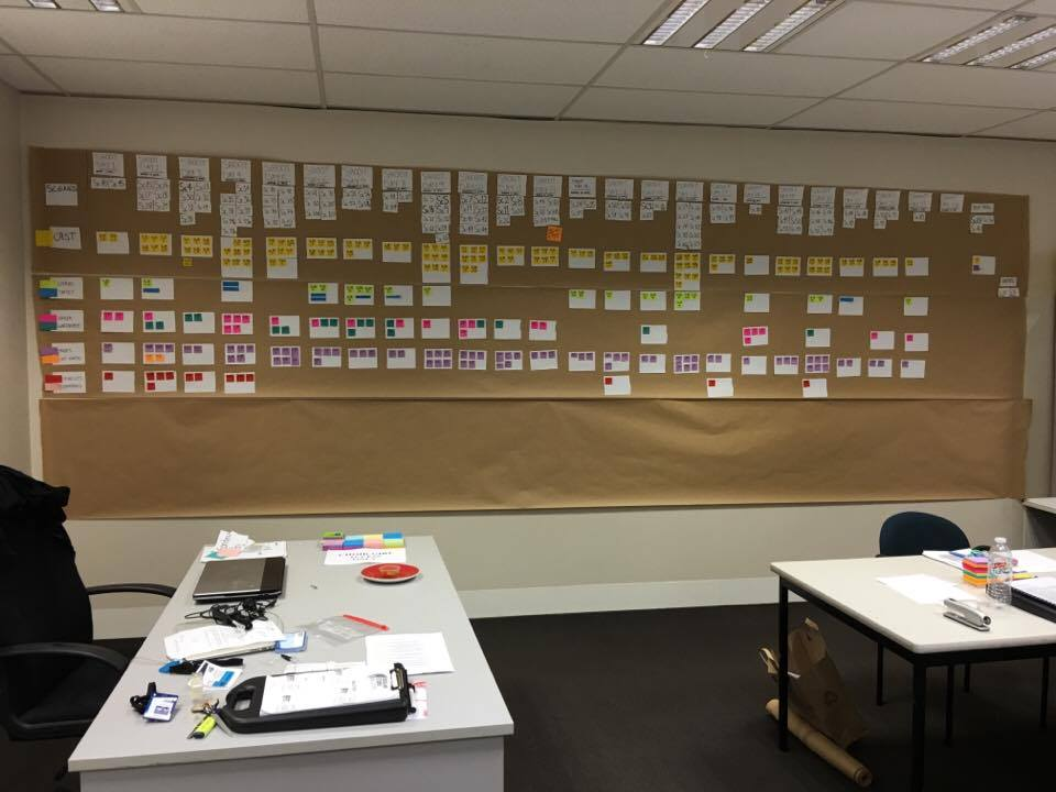 Production Schedule Board - Photo Credit: Lucinda Bruce