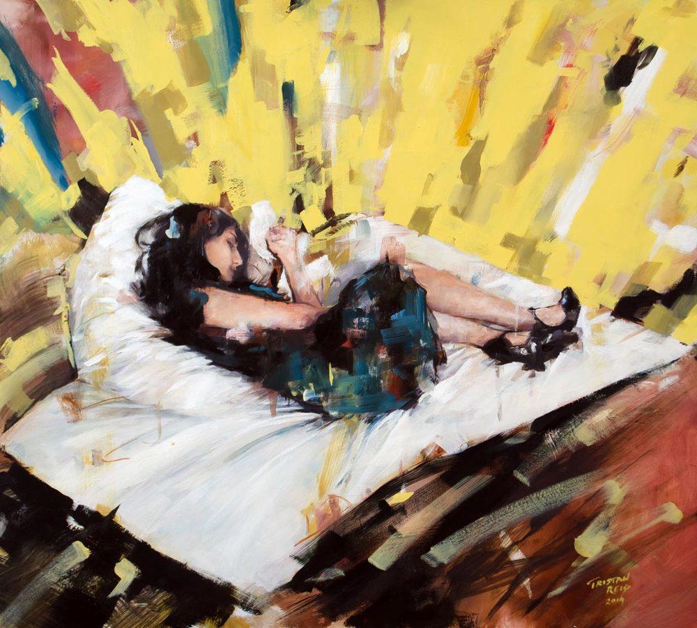 ED Sleeping, oil on panel, 2015