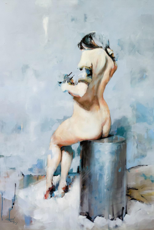 Nude 3, oil on panel, 72x48cm