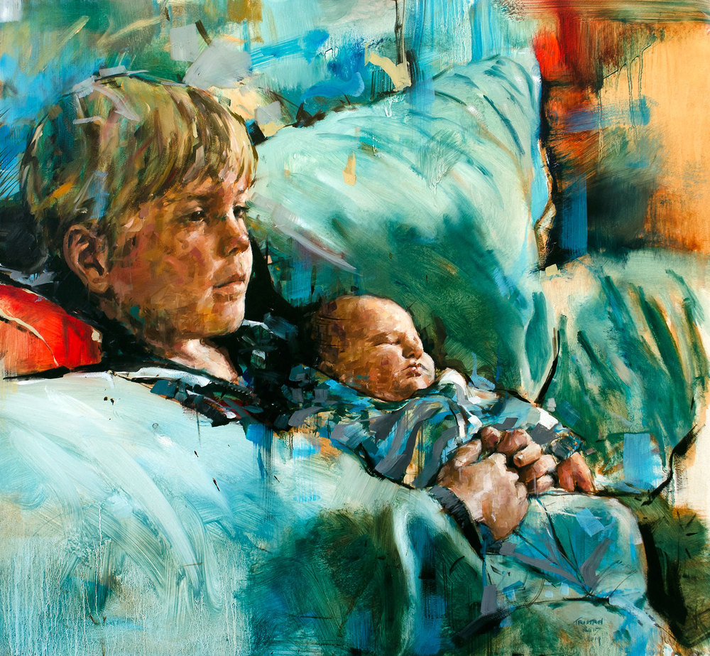 Ben and Joseph, oil on panel, 65x70cm