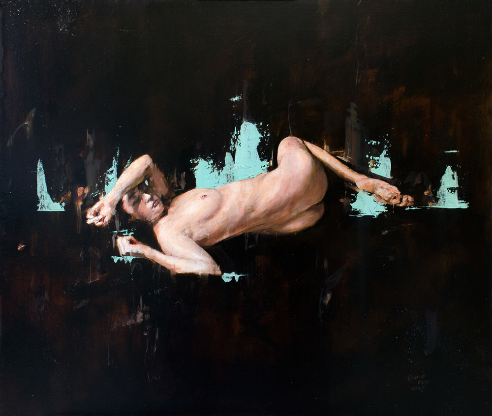 Nude 6, oil on panel, 51.5x60cm