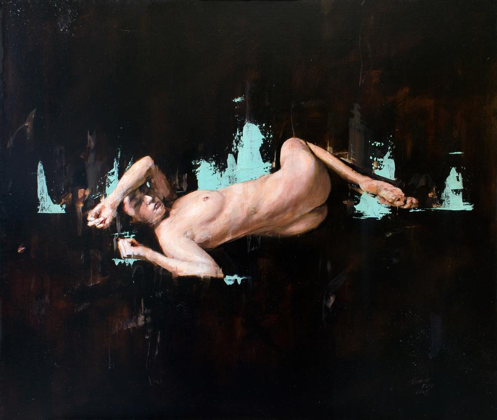 Nude 6, oil on panel, 51.5x60cm