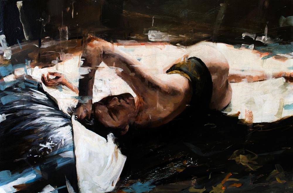 Nude 8, oil on panel, 31x47cm