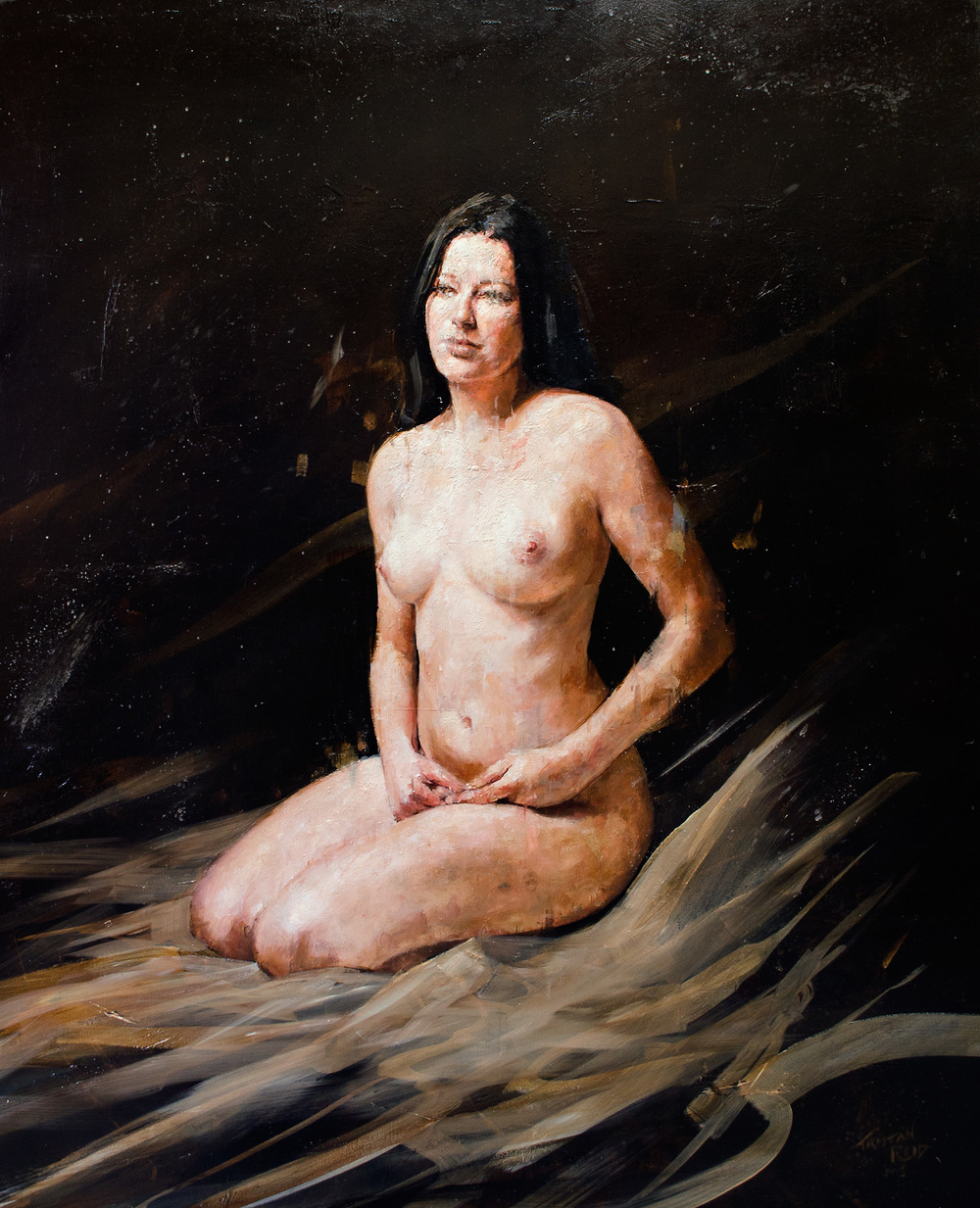 Nude 7, oil on panel, 81.5x68cm