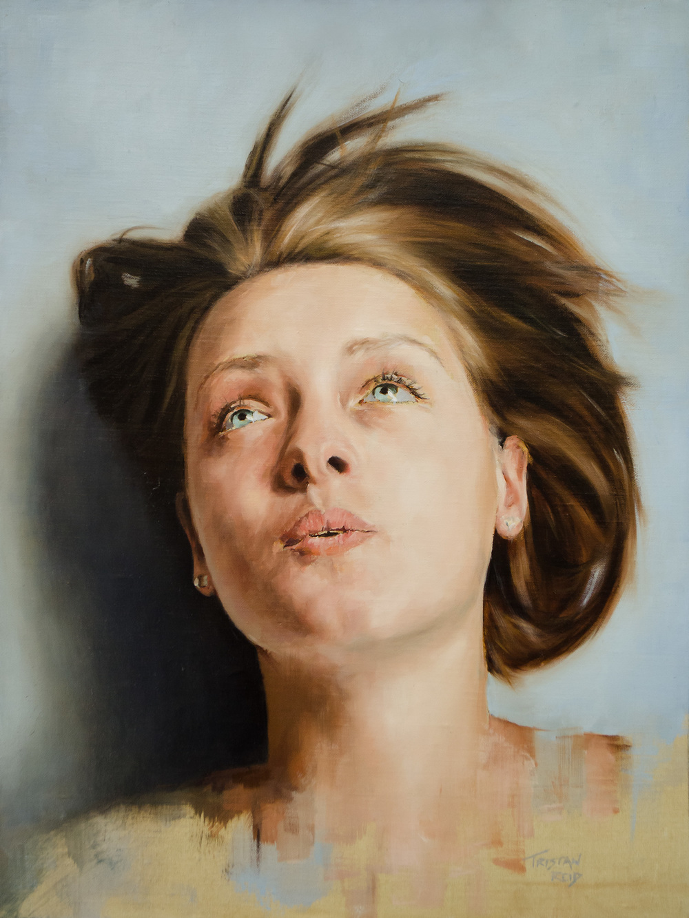 Hattie, oil on panel,