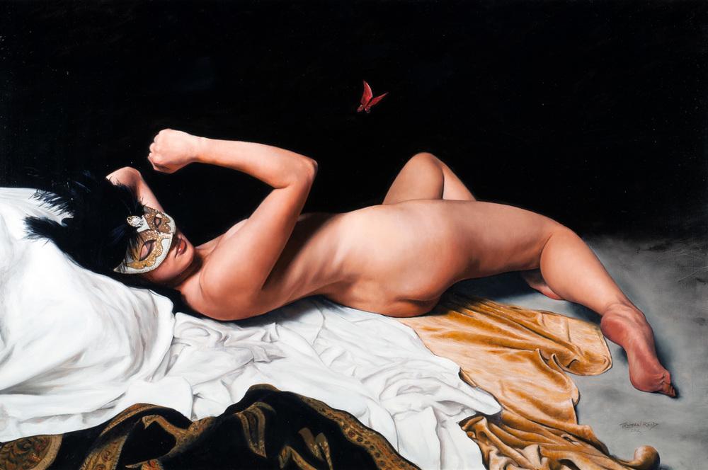 Psyche, oil on panel, 80x53cm
