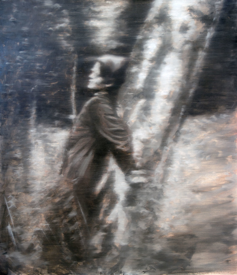 Sophie Scholl, oil on panel