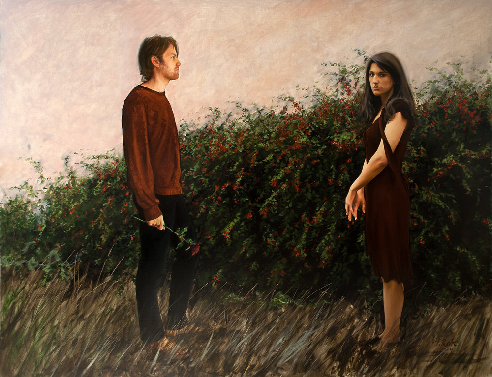 And The Rose, oil on panel, 82x107cm