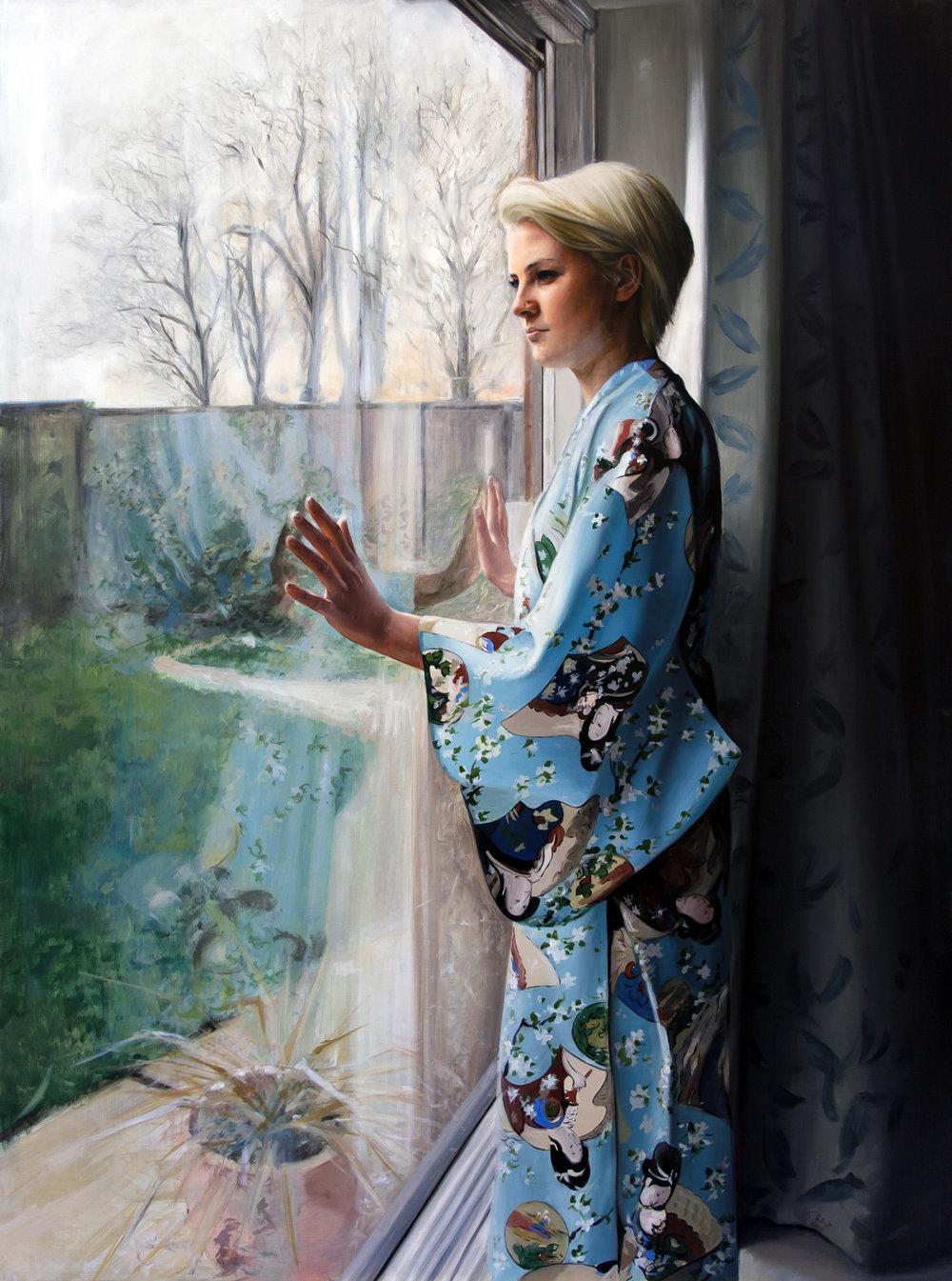 Kimono, oil on panel, 102x76cm