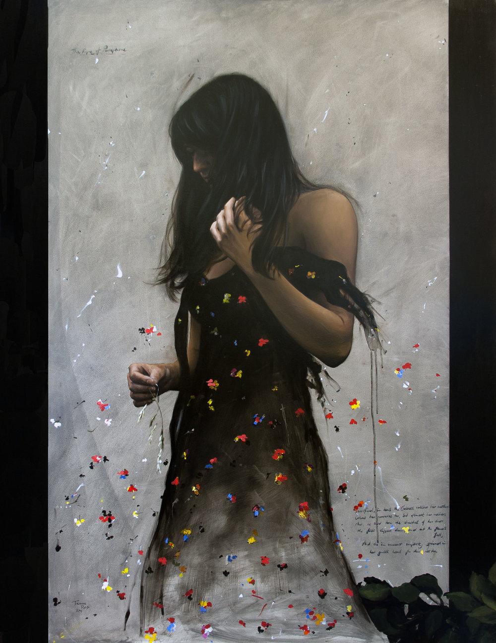 Persephone, oil on panel, 107x82cm