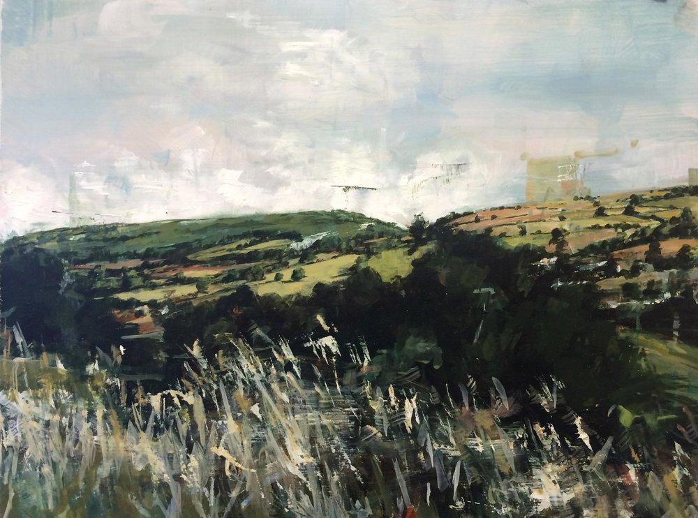 Long Mountain, oil on panel, 2017