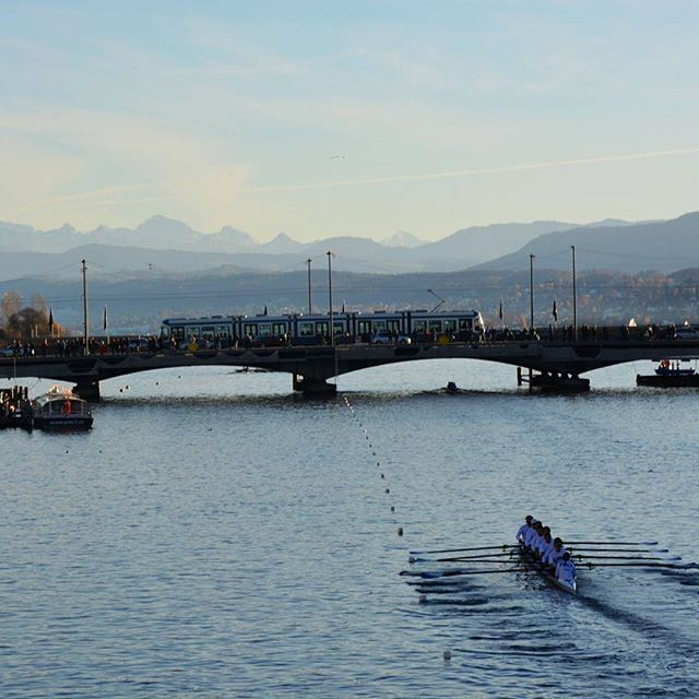 Fun weekend of racing in Zurich downtown #unipoly #eth #uzh #rowing #zurich