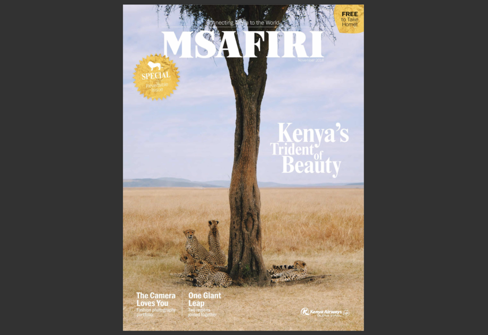 Kenya Airways magazine Msafiri cover by Joost Bastmeijer dc.png