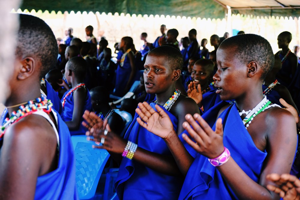 Masai girls clap and sing in ARP.JPG