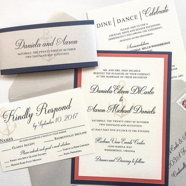 #customweddinginvitations #customweddinginvitation #customstationery #nauticalwedding #navybluewedding