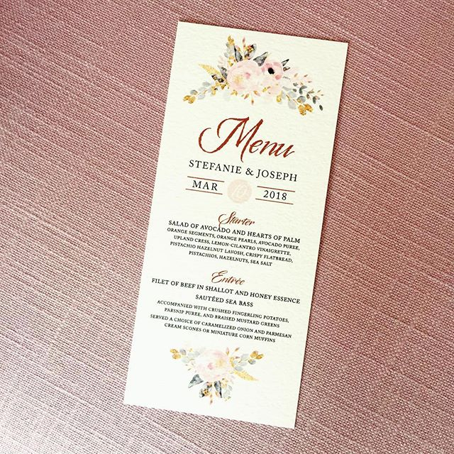 #menu #weddingmenu #blushwedding #weddingdaystationery #weddingpapergoods #customweddingstationery