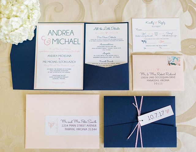 #blushweddinginvitations #weddinginvitations #blushwedding #navywedding