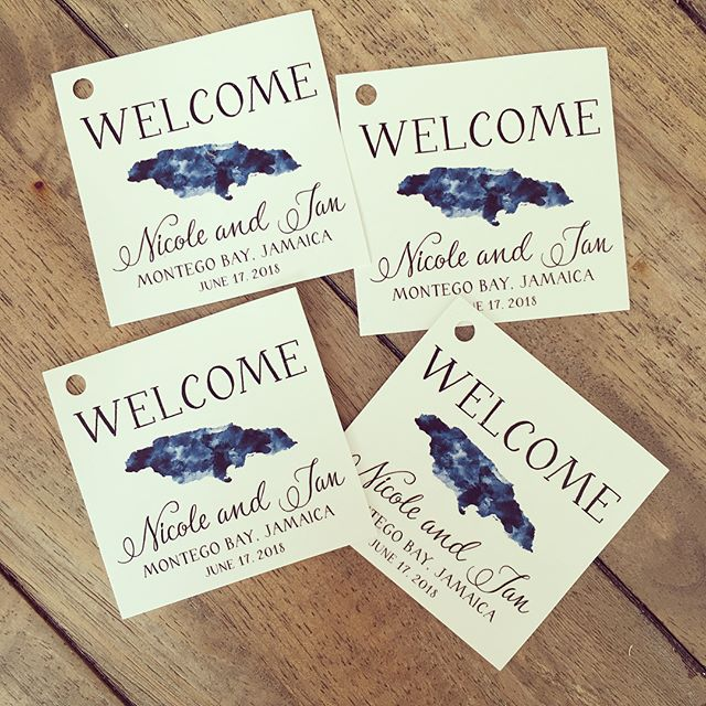 #weddingstationery #destinationwedding #hangtag #giftbags #thermography #customstationery