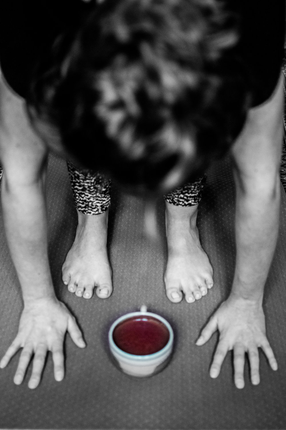 Yoga Pose And A Cacao Cup