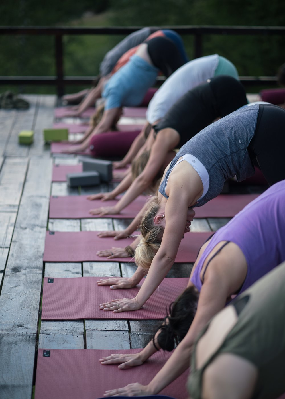 Sun Salutations on a Yoga Retreat at Akasha Wellness Retreat in Transylvania