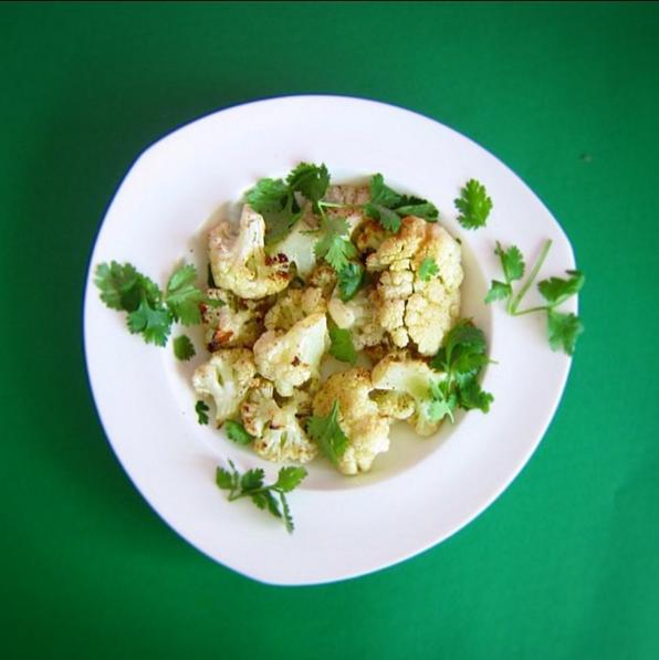 (gluten free, dairy free, nut free, soy free)     cauliflower, lime, cilantro, salt, cumin, pepper, olive oil, garlic