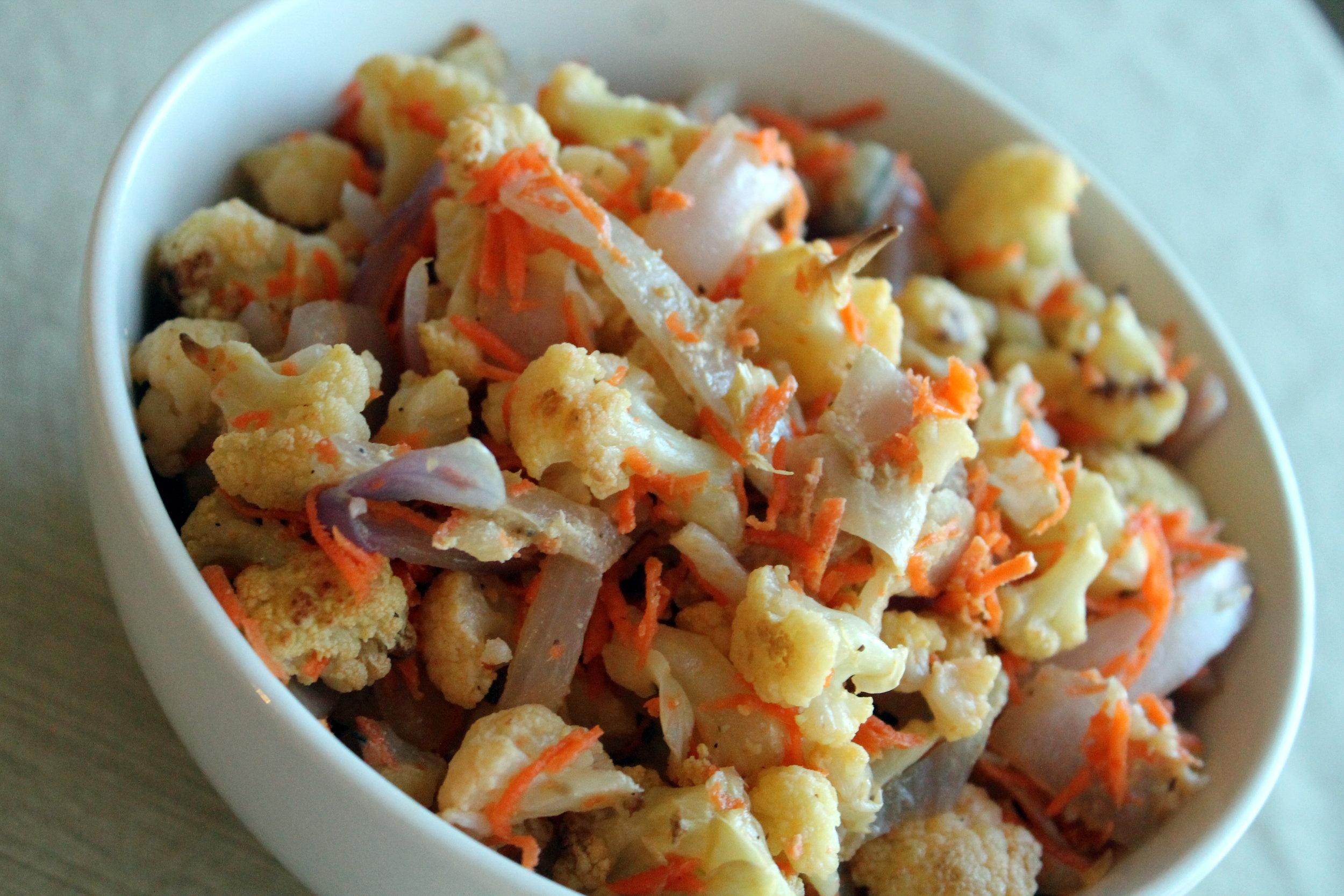 ... Cauliflower Tahini Salad + Baked Eggplant Sticks — Erica House