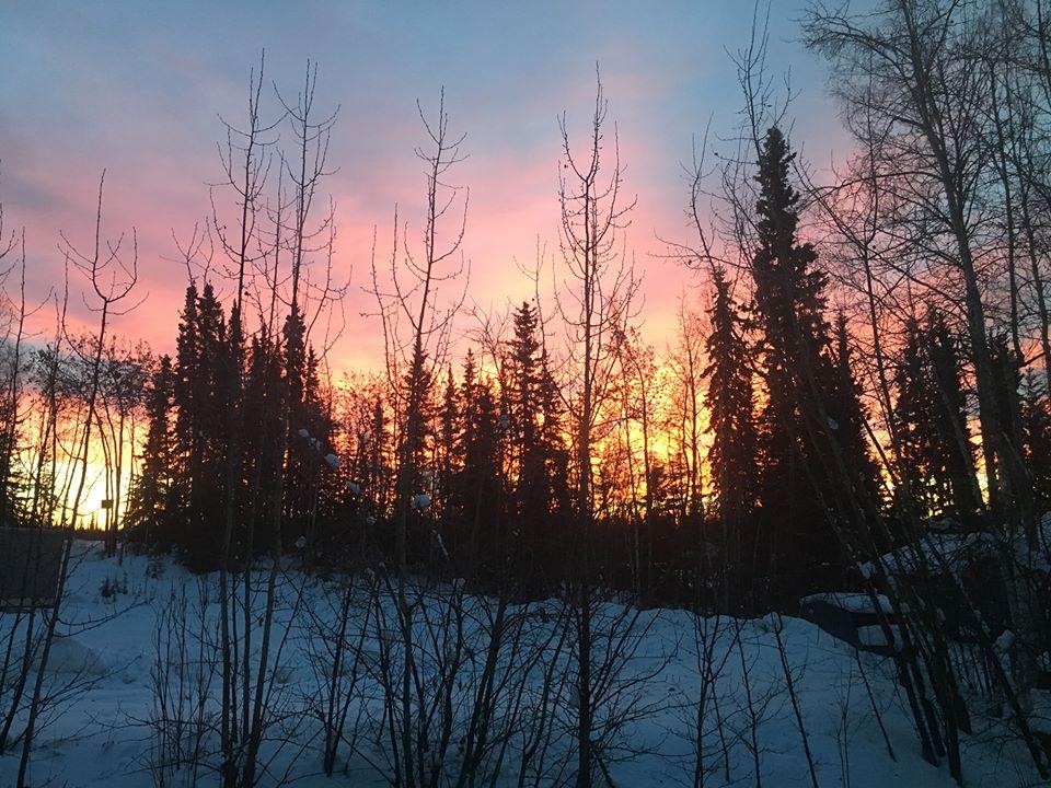 Alaska sunrise at 10