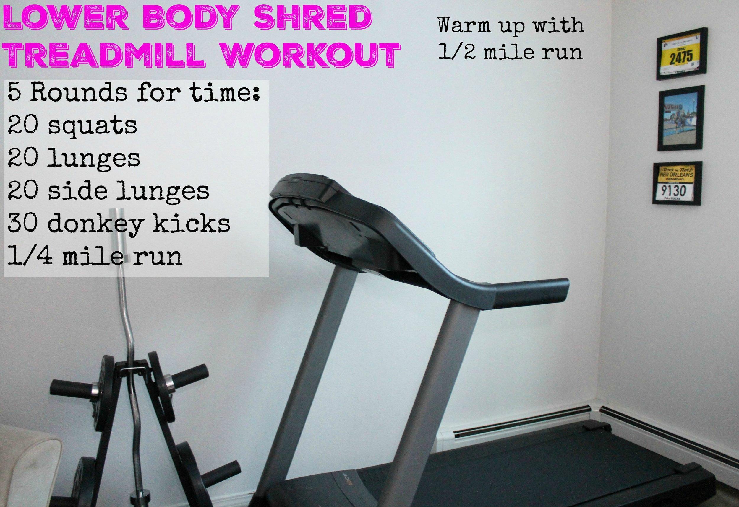 Lower Body Treadmill Workout 1