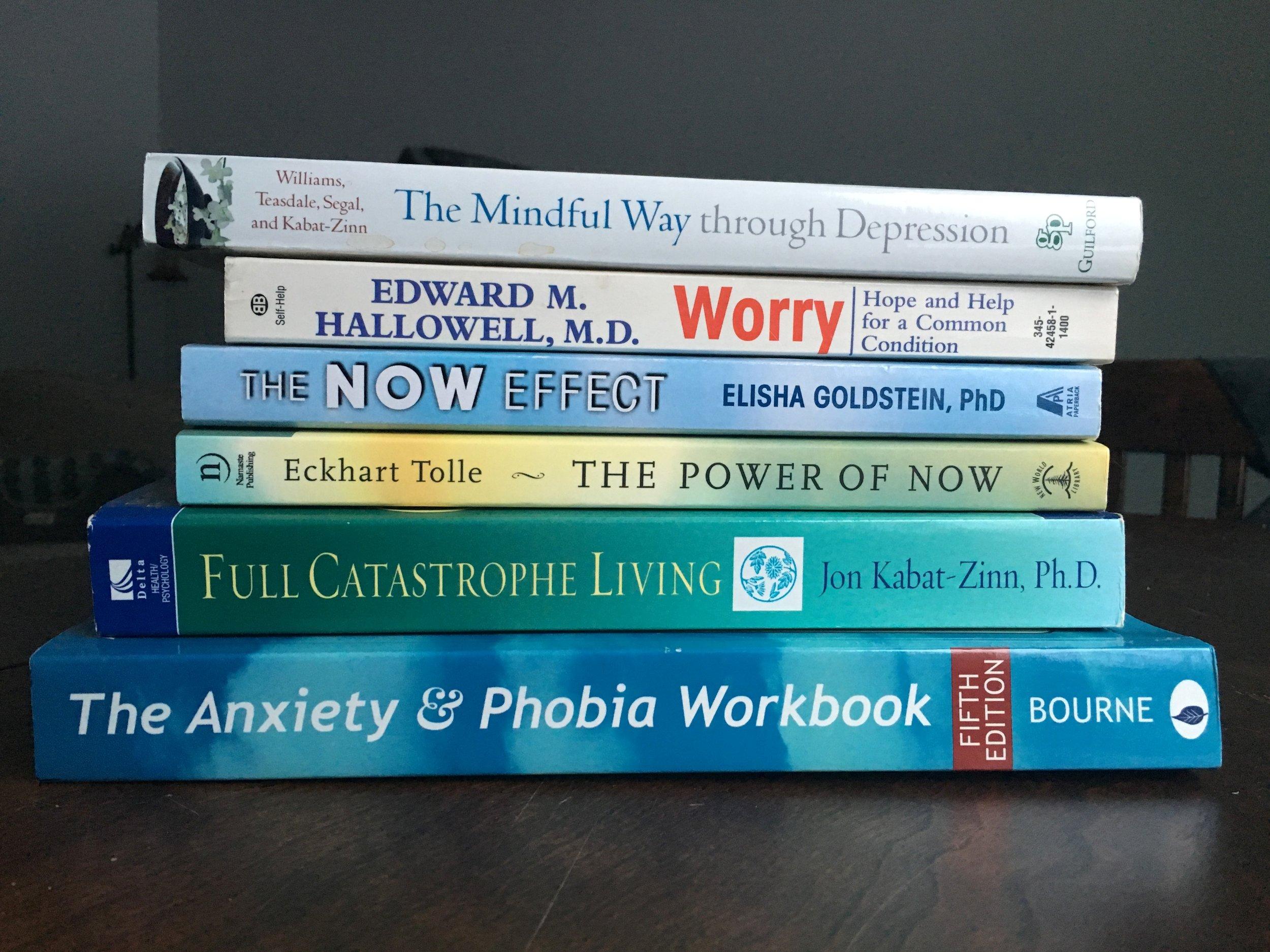 Best anxiety self help books