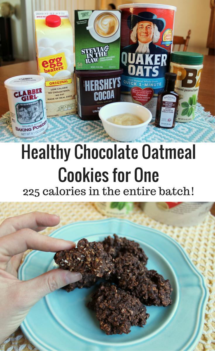 Healthy Chocolate Oatmeal Cookies