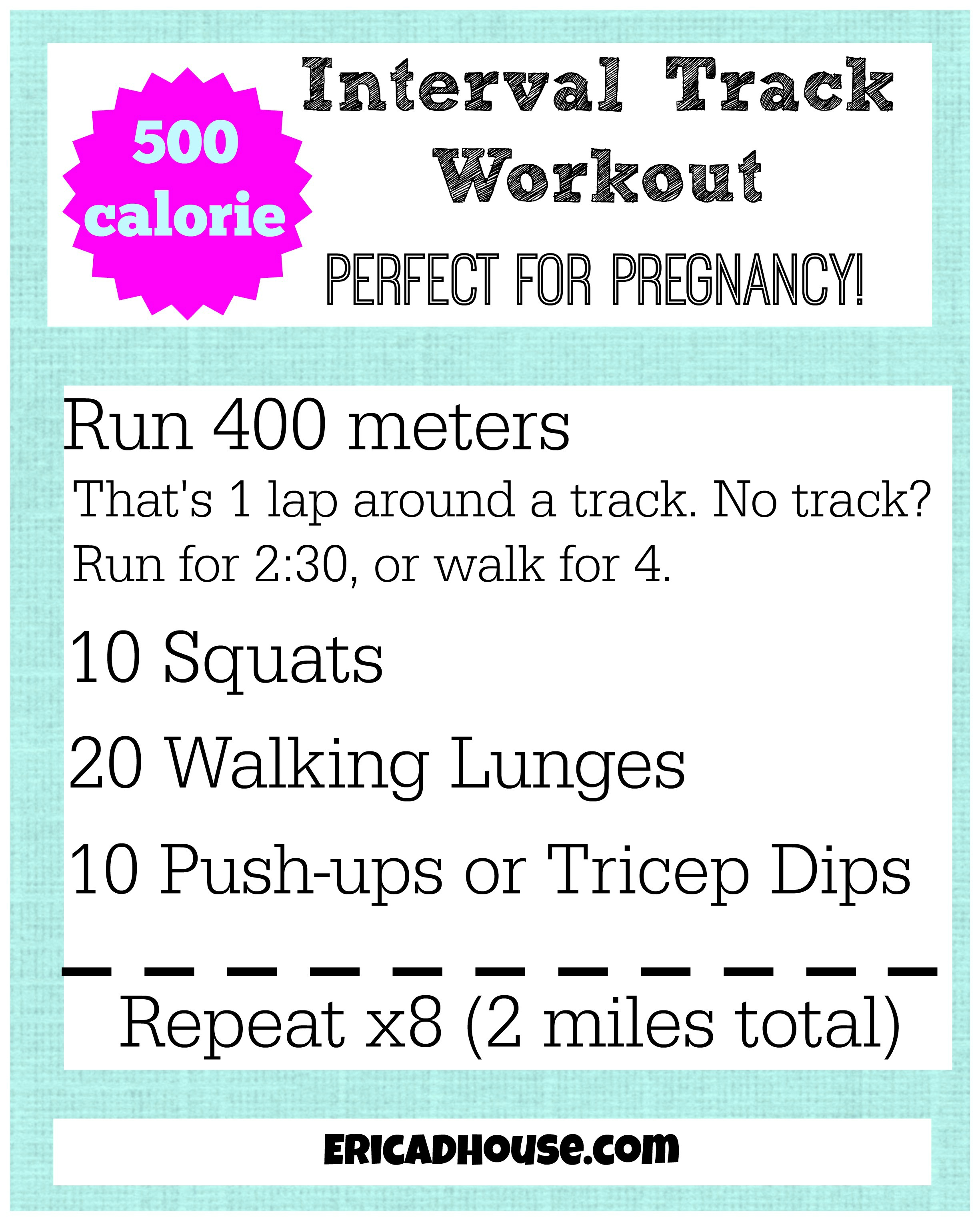 500 calorie interval track workout updated