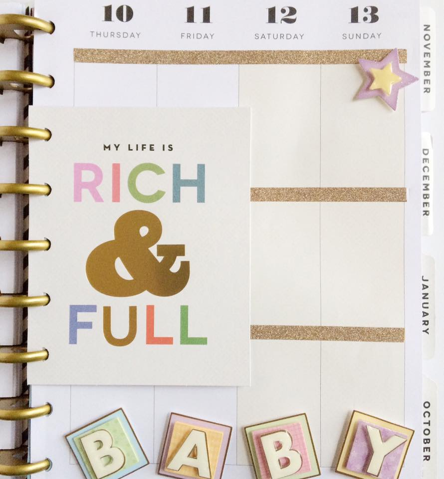 Happy Planner Decorated for Baby