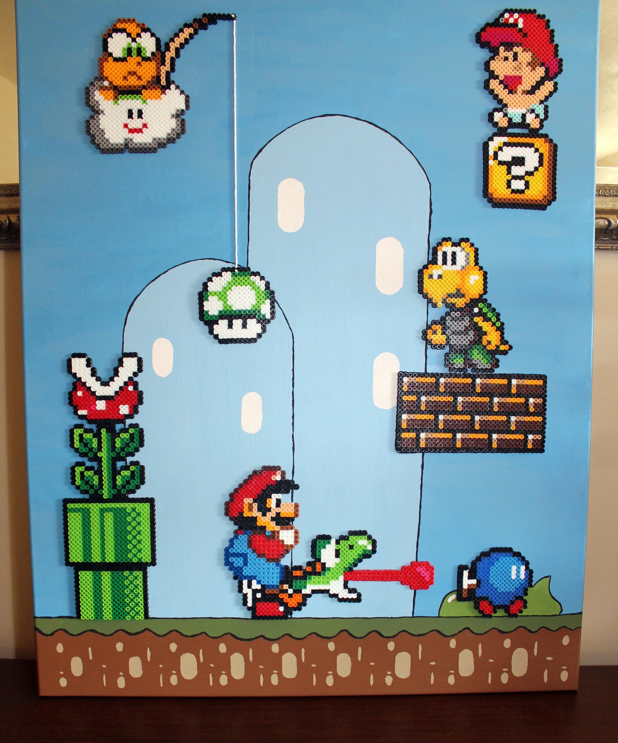 Super Mario Birth Announcement
