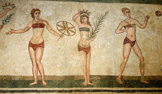 To prove there is nothing new - here's the first recorded bikini.