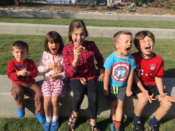 It was a non-stop fun fest for the Campbell and Bouron cousins!