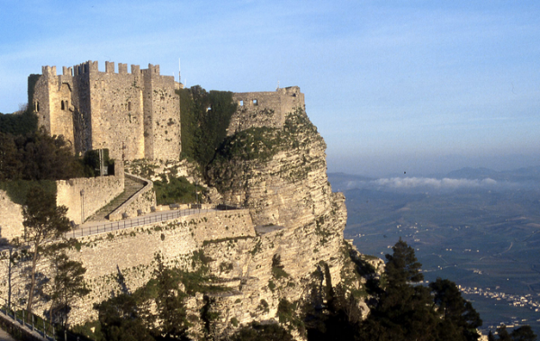 The sky high town of Erice where you were dropped back in time.
