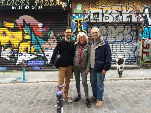 Taking a tour of Parisian street art during a Airbnb Trips experience.