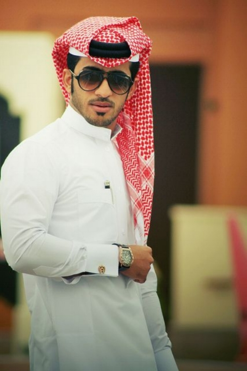 A typical Qatari man - although this is a fashion model version.