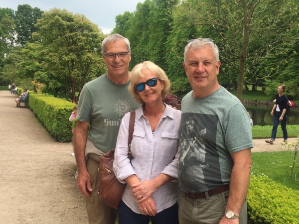 Wendy and Graham were shipmates in Montenegro. Michael and Graham are so tuned into each other they wore the same color t-shirts almost everyday -without checking!