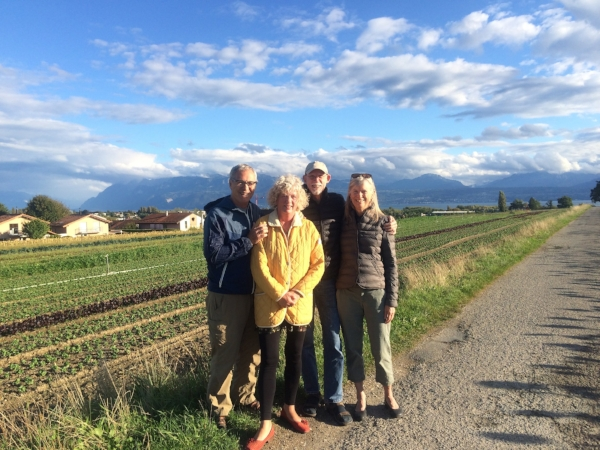A lovely stroll in the bucolic countryside surrounding Jim and Marilyn's home near Lausanne.