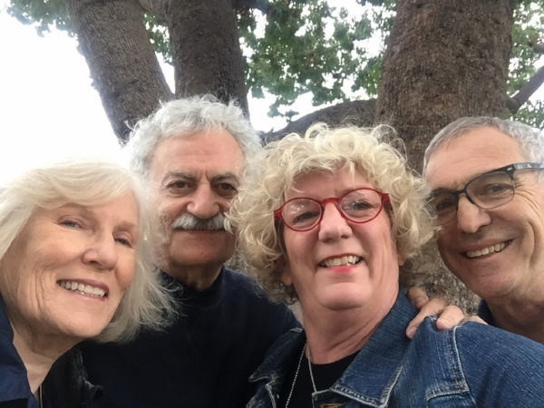 "If Carol and Kent were in this selfie as well you'd see the six ""Seniors"" behind the production of our book. Old dogs, new tricks!"