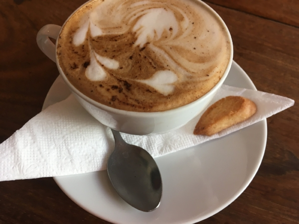 A spiced Zanzibar coffee. Redolent of cinnamon, cardamom and mace.