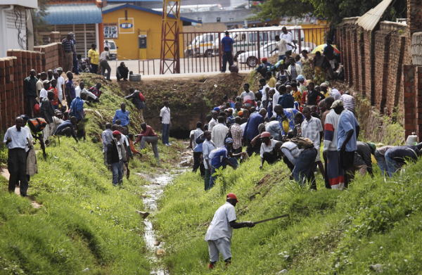 Once a month the citizens of Rwanda are obligated to clean their public spaces.
