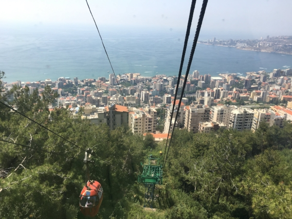 It was a long way down from the lofty heights of Our Lady of Harissa cathedral.