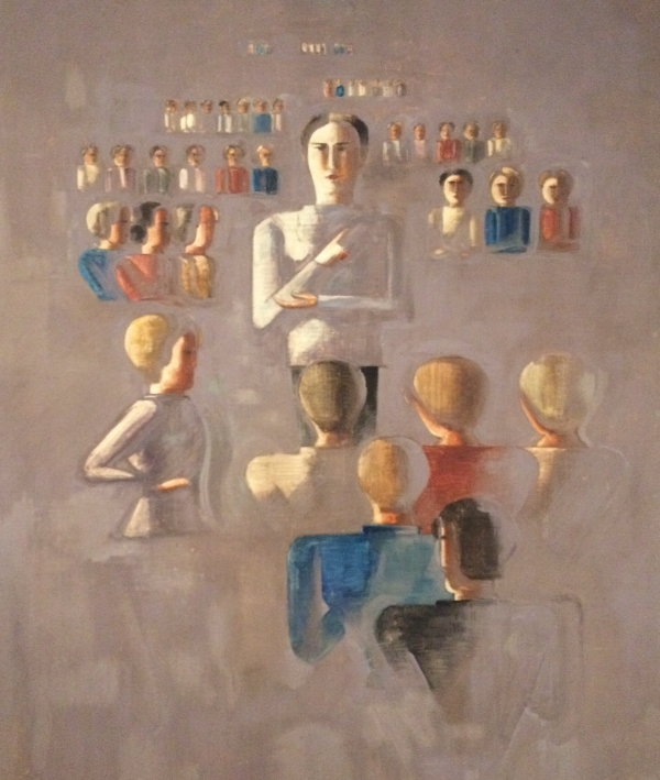 This was more appealing to us. A painting done by OsKar Schlemmer in 1929.