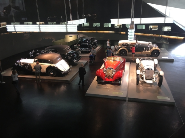 The history of the Mercedes-Benz Company was fascinating - including their involvement in both WWI and WWII.