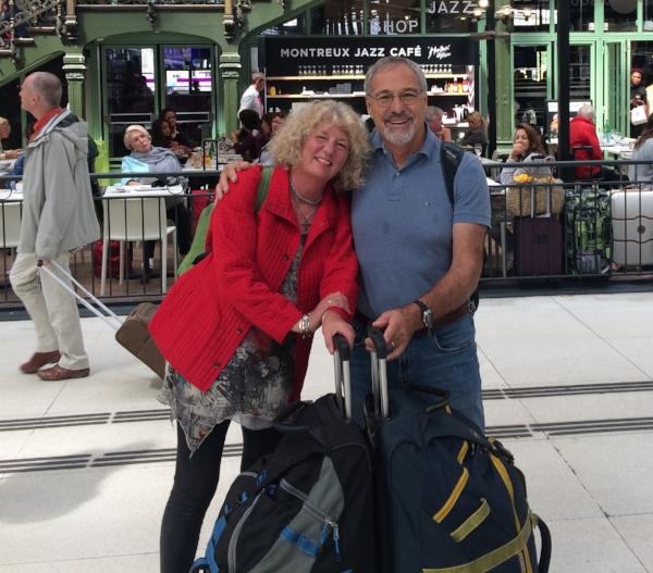 Leaving Paris last month. California here we come!