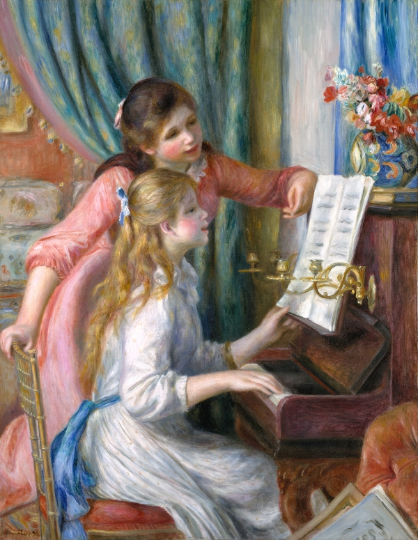 Michael's favorite painting, Jeunes filles au piano by Renoir.