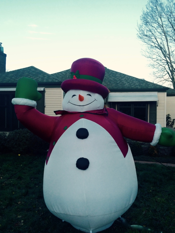 Frosty has moved on to a home where he is better appreciated.